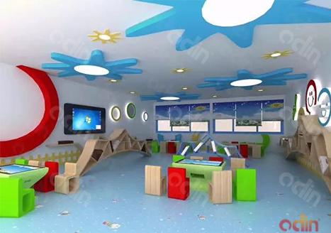 上海幼儿园阅览室幼教触摸桌应用案例