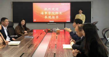 江苏海事职业技术学院教师赴欧帝科技参观交流
